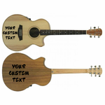 Customize your Guitar with Any custom text!