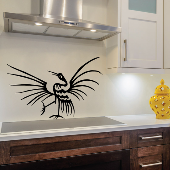 Traditional Whooping Crane Decal