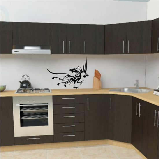 Oriental Rooster Decal