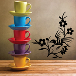Perched Rooster Flower Decal