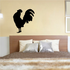 Greeting Rooster Silhouette Decal