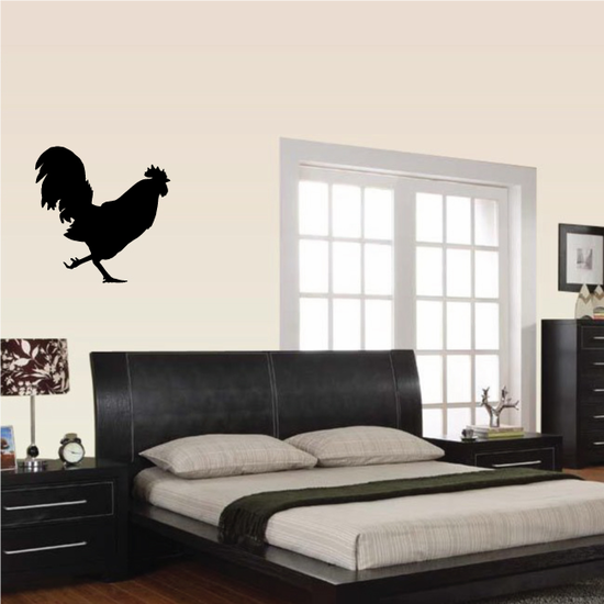 Chasing Rooster Silhouette Decal