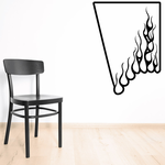 Angle Corner Flat Top Sides Ghost Flames Car Decal - Vinyl Decal - Wall Decal - CF644