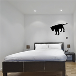 Panther Looking Silhouette Decal