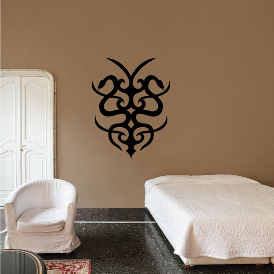 Two Snakes Tribal Wall Decal - Vinyl Decal - Car Decal - MC04
