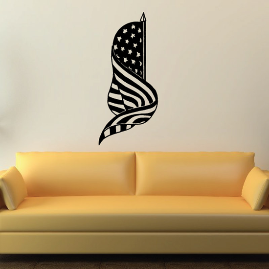 Swirling America Flag Decal