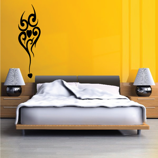 Hearts Tribal Wall Decal - Vinyl Decal - Car Decal - MC17