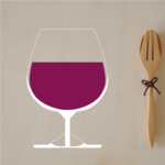 Small Wine Glass Sticker