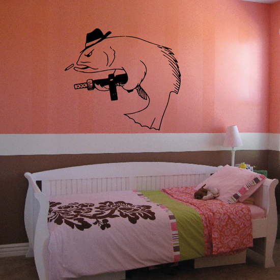 Fish Wall Decal - Vinyl Decal - Car Decal - DC041