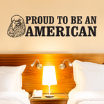 Proud To Be An Ameican Eagle Decal