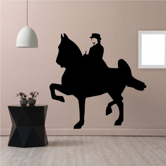 Saddle Horse with Rider Decal