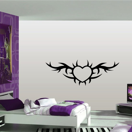 Heart Tribal Wall Decal - Vinyl Decal - Car Decal - MC34
