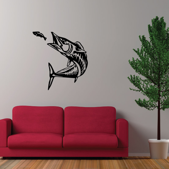 Fish Going for Lure Decal