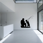 Father and Son Fishing Decal