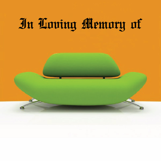 Custom In Memory Of Text Wall Decal - Vinyl Decal - Car Decal - DC010