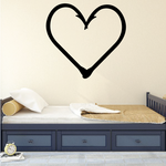 Fishing Hook Heart Wall Decal - Vinyl Decal - Car Decal - NS001