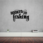 Hooked on Fishing Wall Decal - Vinyl Decal - Car Decal - Vd005