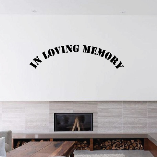 Custom In Memory Of Text Wall Decal - Vinyl Decal - Car Decal - DC014