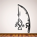Fishing Wall Decal - Vinyl Decal - Car Decal - Vd001