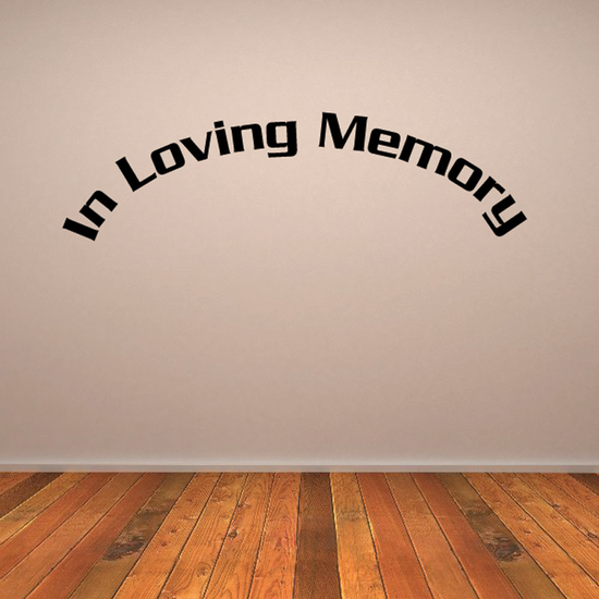 Custom In Memory Of Text Wall Decal - Vinyl Decal - Car Decal - DC016