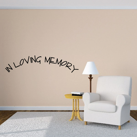Custom In Memory Of Text Wall Decal - Vinyl Decal - Car Decal - DC020
