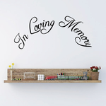 Custom In Memory Of Text Wall Decal - Vinyl Decal - Car Decal - DC029