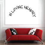 Custom In Memory Of Text Wall Decal - Vinyl Decal - Car Decal - DC031
