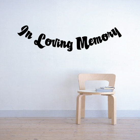 Custom In Memory Of Text Wall Decal - Vinyl Decal - Car Decal - DC033