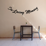 Custom In Memory Of Text Wall Decal - Vinyl Decal - Car Decal - DC034