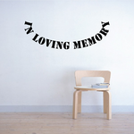 Custom In Memory Of Text Wall Decal - Vinyl Decal - Car Decal - DC036