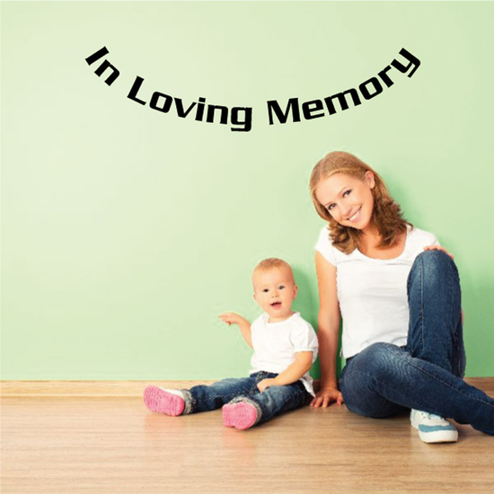 Custom In Memory Of Text Wall Decal - Vinyl Decal - Car Decal - DC038