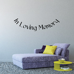 Custom In Memory Of Text Wall Decal - Vinyl Decal - Car Decal - DC041