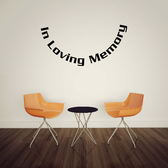 Custom In Memory Of Text Wall Decal - Vinyl Decal - Car Decal - DC049