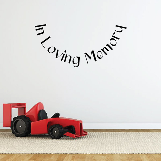 Custom In Memory Of Text Wall Decal - Vinyl Decal - Car Decal - DC052