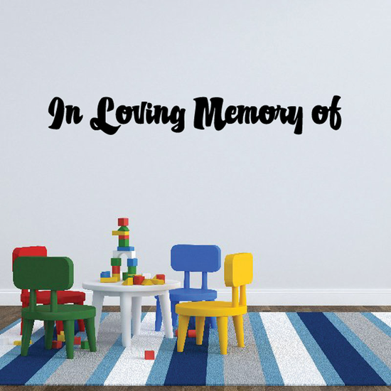 Custom In Memory Of Text Wall Decal - Vinyl Decal - Car Decal - DC055