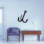 Fishing Hook Wall Decal - Vinyl Decal - Car Decal - Vd003