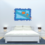 Fishing Wall Decal - Vinyl Sticker - Car Sticker - Die Cut Sticker - CDSCOLOR021