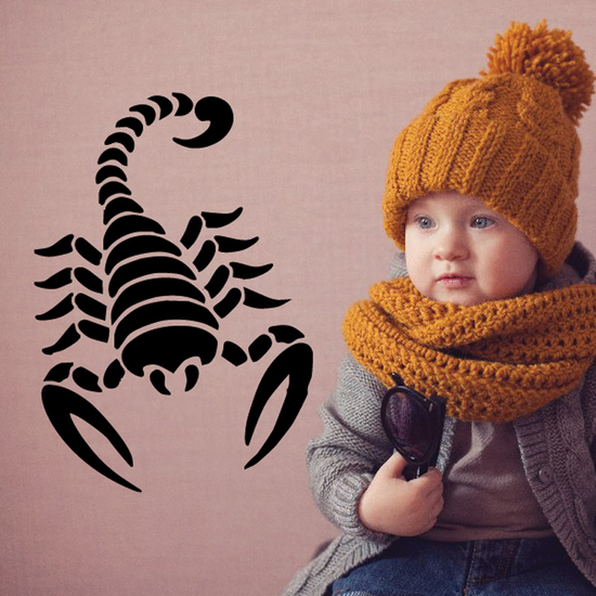 Ribbed Style Scorpion Decal