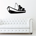 Fishing Boat Wall Decal - Vinyl Decal - Car Decal - 024