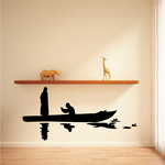 Fishing Boat Wall Decal - Vinyl Decal - Car Decal - 025
