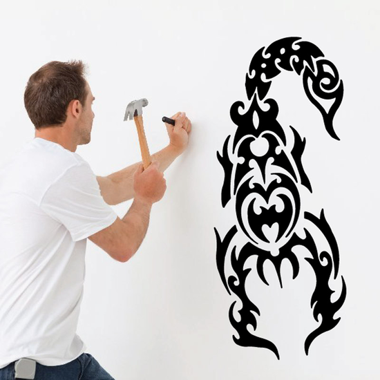 King Flame Style Scorpion Decal