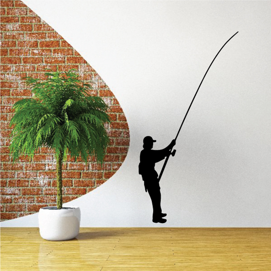 Fisherman Wall Decal - Vinyl Decal - Car Decal - NS001