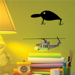 Fishing Lure Wall Decal - Vinyl Decal - Car Decal - NS003