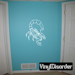 Scorpion Outline Style Decal