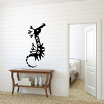 Abstract War Seahorse Decal