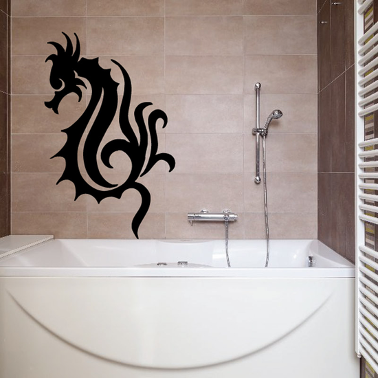 Flowing Tail Seahorse Decal