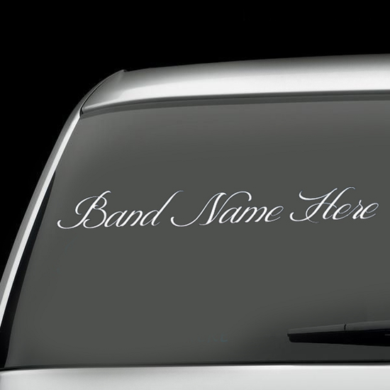 Custom Cursive Decal
