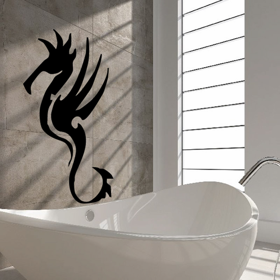 Intricate Graceful Seahorse Decal