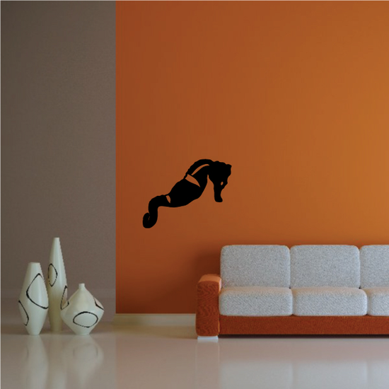 Leaning Seahorse Decal