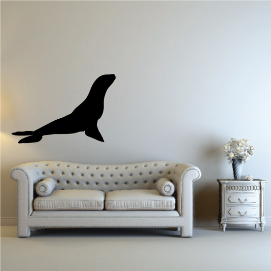 Sea Lion Sitting Up Decal